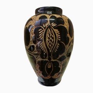 Jarrón escandinavo de cerámica de Korona, años 30