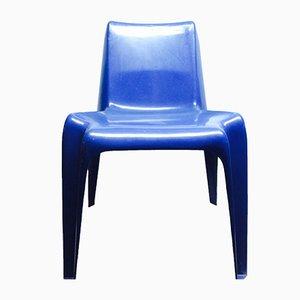 Sedia in plastica blu di Helmut Bätzner per Bofinger, anni '60