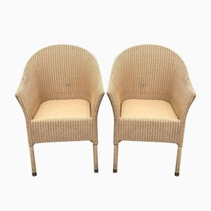 Wicker Armchairs, 1980s, Set of 2