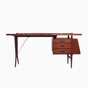 Teak Desk by Louis van Teeffelen for Wébé, 1950s