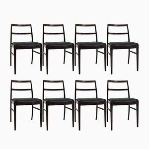 Chaises de Salon Mid-Century par Arne Vodder pour Sibast, Set de 8
