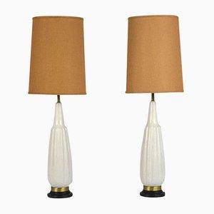 Lampes de Bureau Mid-Century Modernes en Céramique, 1960s, Set de 2