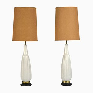 Mid-Century Modern Ceramic Table Lamps, 1960s, Set of 2