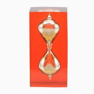 Reloj de arena de lucite, años 70