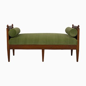 Walnut Bench or Daybed, 1840s