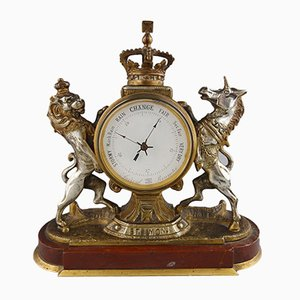 Royal Arms Aneroid Table Barometer, 1900s