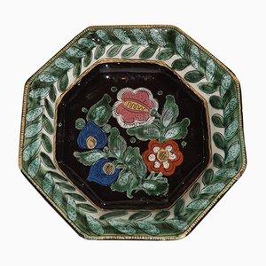 Plato Thun de cerámica de Hannï Steffisburg, siglo XIX
