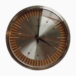 Vintage Orange Quartz Clock, 1970s