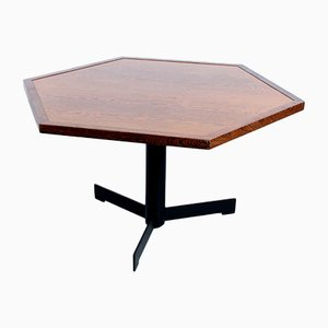 Hexagonal Dutch Dining Table in Wenge, 1970s