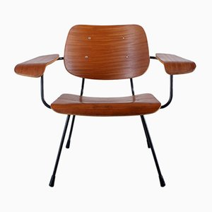 8000 Teak Plywood Armchair by Tjerk Reijenga for Pilastro, 1950s