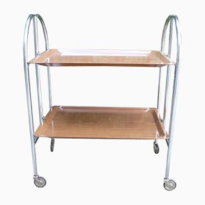 Vintage Foldable Serving Trolley from Bremshey & Co