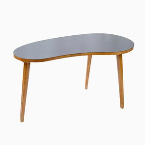 Wood & Formica Kidney-Shaped Coffee Table, 1950s