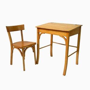 Kinder Schreibtisch mit Stuhl von Baumann, 1960er