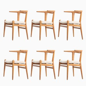 Mid-Century JH518 Chairs by Hans J Wegner for Johannes Hansen, 1960s, Set of 6