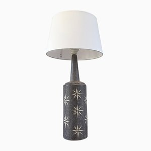 Tall Grey Danish Ceramic Table Lamp, 1970s