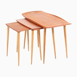 Mid-Century Nesting Tables by Jens Quistgaard for Nissen