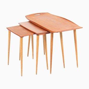 Tables Gigognes Mid-Century par Jens Quistgaard pour Nissen