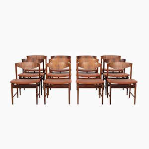 Rosewood Dining Chairs by Ib Kofod-Larsen for Seffle Möbelfabrik, 1950s, Set of 12