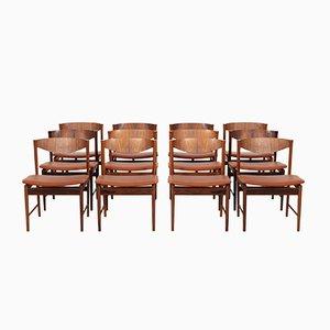 Sedie da pranzo vintage in palissandro di Ib Kofod-Larsen per Seffle Möbelfabrik, anni '50, set di 12
