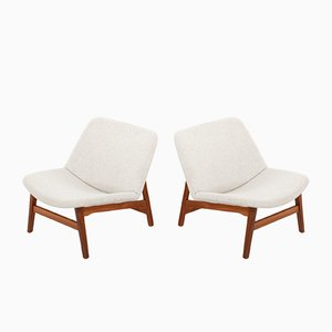Vintage Easy Chairs by Yngve Ekström for Swedese, 1950s, Set of 2