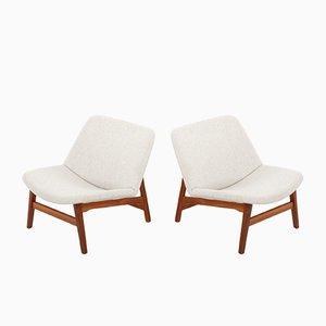 Vintage Lehnstühle von Yngve Ekström für Swedese, 1950er, 2er Set