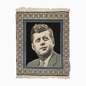 Middle Eastern Kennedy Portrait Rug, 1980s