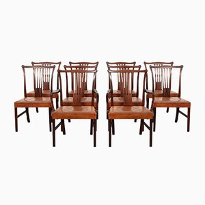 Vintage Dining Chairs by Helge Vestergaard Jensen for Peder Pedersen, 1940s, Set of 10