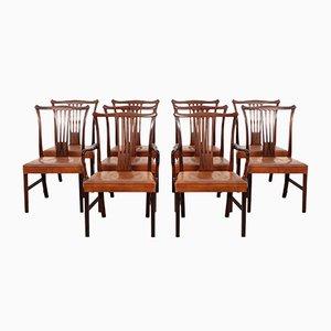 Vintage Dining Chairs by Helge Vestergaard Jensen for Peder Pedersen, 1940s, Set of 10