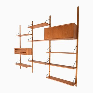 Vintage Royal System Wall Unit in Teak by Poul Cadovius for Cado