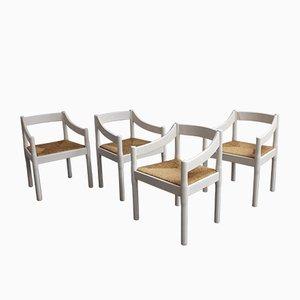 Vintage Carimate Stühle von Vico Magistretti für Cassina, 4er Set
