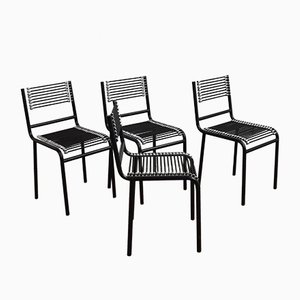 Sandow Chairs by René Herbst, 1980s, Set of 4