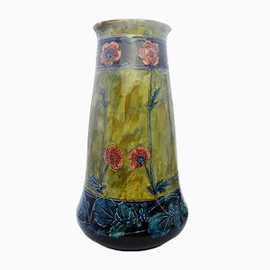 Art Nouveau Morris Ware Vase by George Cartlidge for S. Hancock and Sons