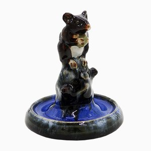 Art Deco Mouse on Tree Figurine by Doulton Lambeth, 1920s