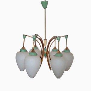 Lámpara de araña vintage de Ezio Longhi, años 50