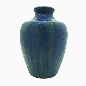 Jarrón francés vintage de cerámica con esmalte de Pierrefonds
