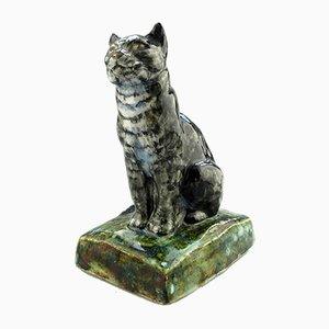 Britische Töpferwaren Katze aus Steingut von Stella R Crofts, 1931