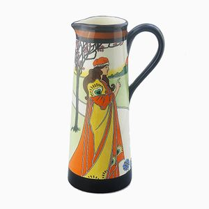 British Art Nouveau Jug by Louis Rhead for Bisto, 1890s
