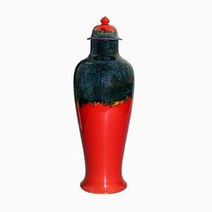 Grand Vase Poterie d'Art avec Couvercle par Bernard Moore, Angleterre, 1910s