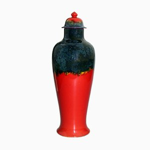 Vaso grande in ceramica con coperchio di Bernard Moore, anni '10