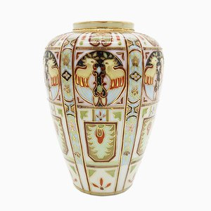 Handbemalte Art Deco Vase von Liberty & Co., 1920er