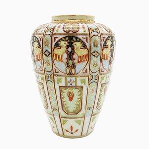 Vase Art Deco Peint Main de Liberty & Co., 1920s