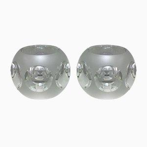 Lampes de Bureau en Verre de Peill & Putzler, 1970s, Set de 2