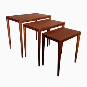 Mid-Century Danish Nesting Tables by Severin Hansen for Haslev