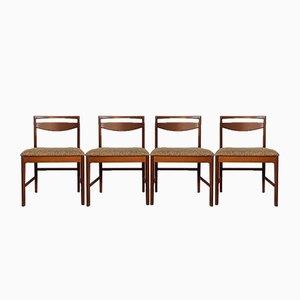 Chaises de Salle à Manger Mid-Century en Teck de A.H McIntosh, Set de 4