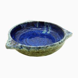 Scodella in ceramica blu e verde di Rachel Bennet per Sibley, anni '20
