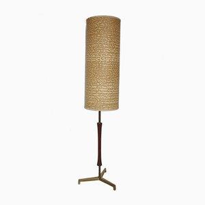 Lámpara de pie de teca y latón, años 60