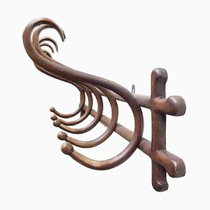 Wall Mounted Bentwood Coat Rack from Thonet, 1910s