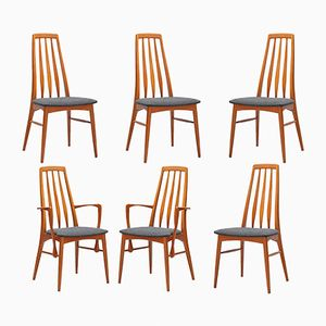 Eva Teak Dining Chairs by Niels Koefoed for Koefoeds Hornslet, 1960s, Set of 6