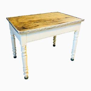 Vintage French Zinc & Oak Kitchen Table