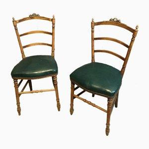Vintage Beistellstühle mit geschwungenen Gestellen, 2er Set